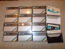 ORWO K 60 low noise Kassetten 14 Stück AudiokassettenTapes Vintage
