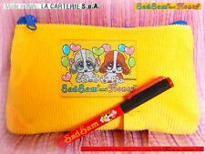 🐕 VINTAGE 1995 Dog SAD SAM HONEY Giordano Astuccio Pencil Case ITALY +PENNA PEN