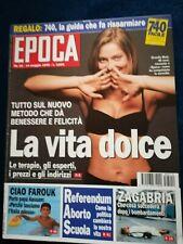 Epoca 19 1995 Ornella Muti Stefania Di Monaco Patty Pravo Giorgia Dellera