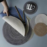 Round Table Mat Kitchen Plate Pad Heat Resistant Placemats Dining Protect Home