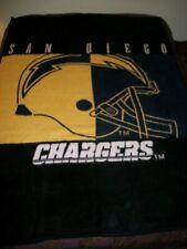 Biederlack Vtg San Diego Chargers Throw Blanket 1980'S-77x58-Crazy Soft #2