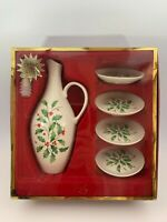 Lenox Oil Bottle And 4 Dipping Dishes Set New Great Gift!