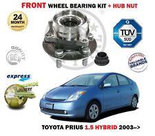 FOR TOYOTA PRIUS HYBRID 1.5i 2003->1X FRONT WHEEL BEARING + HUB KIT EO QUALITY