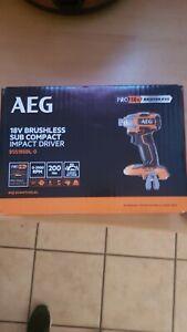 Visseuse à choc sans fil sans batterie AEG Subcompact bss18sbl-0, 18 V