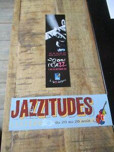 Marque pages collectors-Lot -Thème Jazz,Lisieux,Haute Garonne-2006