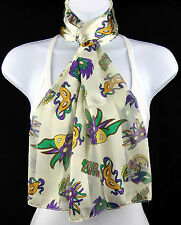 Mardi Gras Mask Womens Scarf New Orleans Masquerade Party Gift White Scarves
