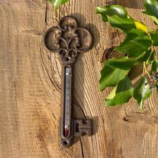 Thermometer im Landhausstil, Außenthermometer als Schlüssel, Temperaturmesser