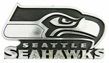 Caseys Distributing 8162012722 Seattle Seahawks Silver Auto Emblem