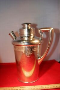 Vintage MHF Sterling Silver Teapot , Brittish?, quart size, very ornate