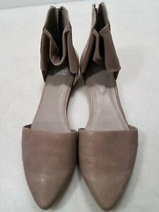 Eileen Fisher Gray Leather Flats Size 10