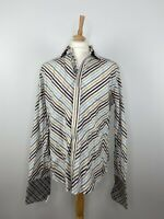 Robert Graham Mens Shirt Button Up Long Sleeve Cotton Flip Cuffs - Size L