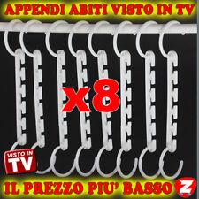 8 APPENDIABITI MULTIPLO HANGER MAGIC APPENDI STAMPELLE VISTO IN TV tu