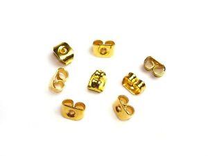 24 Stück Verschluss Stopper, Ohrmutter für Ohrstecker in Gold