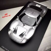 New 1/18 Spark Ford GT40 Street Version 1966 Resin Car Model Silver 18S293