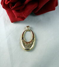 Sterling Silver Vermeil   Door knocker Pendant 6g CAT RESCUE