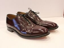 Johnston Murphy Oxfords Mens Sz 12 Dress Shoes Brown Lace Shiny