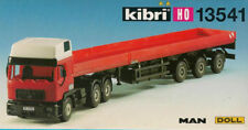 KIBRI 13541 CAMION SEMI TRAILER SPECIAL TRUCK PLATAFORMA MAN DOLL KIT 1:87 HO