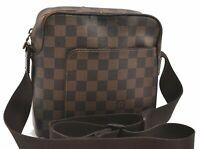 Authentic Louis Vuitton Damier Olav PM Shoulder Bag N41442 LV B2605