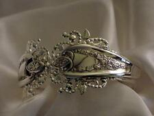 ANTIQUE OLD COLONY HINGED CUFF BRACELET TRIPLE PLATED STERLING SILVER SPOONS!
