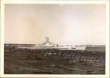 "1940s US Navy USS Pomodon SS-486 Tench Submarine Trial Run Iced Deck 7""x5"" Photo"