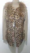 NUOVO design 100% Vera Golden Lynx con pelliccia di volpe Gilet Pelliccia completa