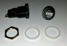 Fuse Holder - Tube Socket - 6x30mm fuses - Panel Mount - UK Seller - Free P&P