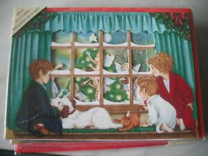 Look There's A PUTTI ENSEMBLE (Angel's Dressing Tree) 3-D Pop Up Blank Xmas Card