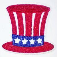 VINTAGE 1970/'s USA BICENTENNIAL UNCLE SAM TOP HAT PATRIOTIC POLITICAL 1776 PATCH