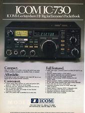 Icom IC-730 HF Rig Amateur Radio Vintage Print Ad