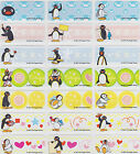 Pingu Personalised Name Label Stickers + Folder - 96 Med Labels Dishwasher Safe