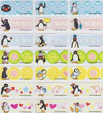 Pingu Personalised Name Label Stickers + Folder - 96 Med Labels Dishwasher Safe
