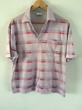 C&A Polyester Cotton Mix Top Size M Heather Pink With Red <R6612