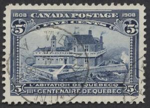 Canada #99 5c Quebec Tercentenary, VF Used, Wetaskiwin ALTA CDS SP 1 08