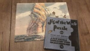 VINTAGE 1930s Jig of the Week Picture Puzzle Merchant Ship 300