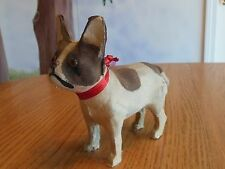Vintage French Bulldog Boston Terrier Dog Toy for Antique Doll marked Germany