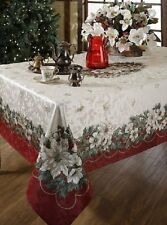 Benson Mills Christmas Noel Printed Tablecloth, size 60-inch-by-104-inch