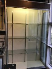 Glass Metal Frame Display Case Wall Unit 71�H x 18�D x 48�L