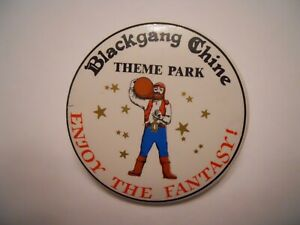 Theme park Blackgang Chine,pirate,smuggler vintage collectable button pin badge.