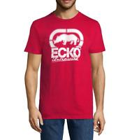 ECKO UNLTD. AUTHENTIC CREW NECK SHORT SLEEVE LOGO GRAPHIC RED T-SHIRT SIZE L