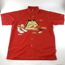 Vintage FUBU Mens Platinum Muhammad Ali Collared Button Up Graphic Shirt XXL