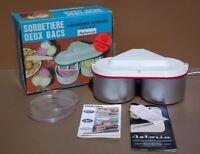Sorbetière ARPI DUO ASTORIA vintage + BOITE glace sorbet MARCHE ice cream maker