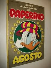 SUPER ALMANACCO PAPERINO:N.62 SECONDA SERIE WALT DISNEY AGOSTO 1985 BUONISSIMO!!