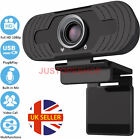 Full HD 1080P Webcam With Microphone MIC USB For PC Desktop Laptop NEW UK Stock