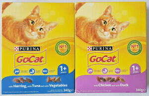 Purina 1+ - GoCat No1 Grocery Dry Cat Food - 340g - (Variety)