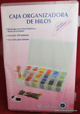 Caja organizadora de hilos, abalorios, accesorios de costura...+7 madejas Dmc