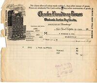 Feb. 13, 1918 Charles Broadway Rouss Wholesale Dry Goods original paper invoice