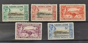 British Commonwealth. George Vl  Sierra Leone 1938 Mounted Mint. As Picture.