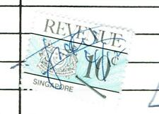 Singapore doc with Revenue Stamp Fiscal Fiscaux Invoice Receipt Airlines 1988