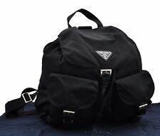 Authentic PRADA Nylon Backpack Black A4747