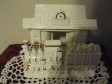 Lenox Train Station Votive Candle Holder with Gold Trim